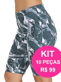 Kit com 10 Bermudas Ciclista em Cotton