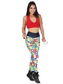 Calça Legging Mosaico