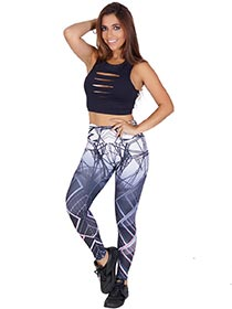 Calça Legging Sublimada Teia Tela Digital